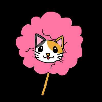 桜色三毛猫 わたあめにゃんこ