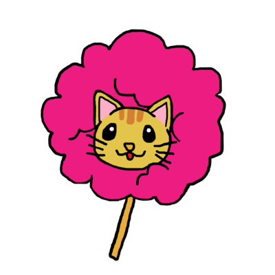 ピンク茶トラ猫 わたあめにゃんこ