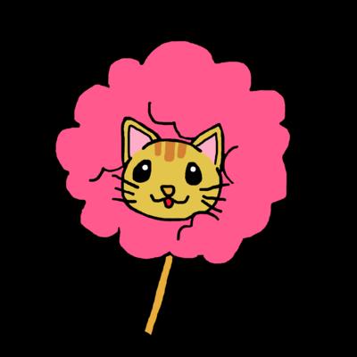 桜色茶トラ猫 わたあめにゃんこ