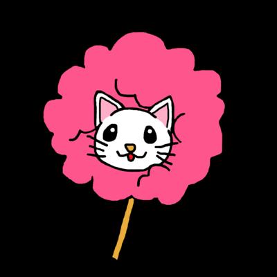 桜色白猫 わたあめにゃんこ