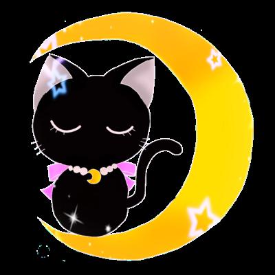 三日月 と 黒猫