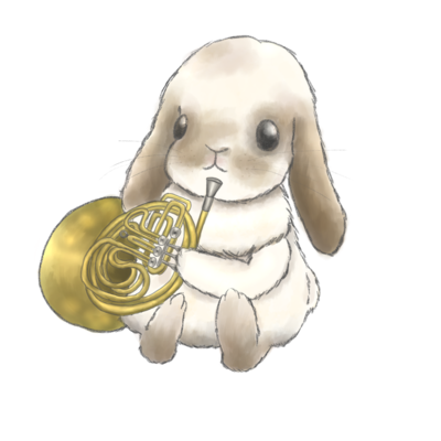 うさぎと楽器