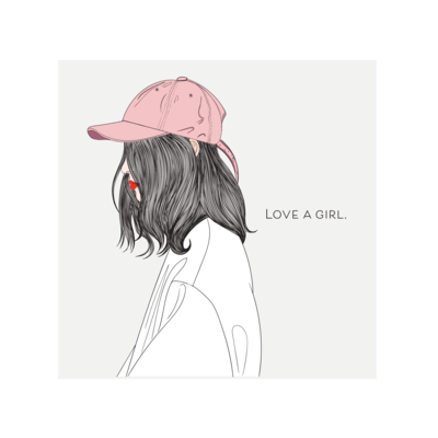 love a girl (pink hat)