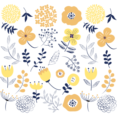 北欧風花柄