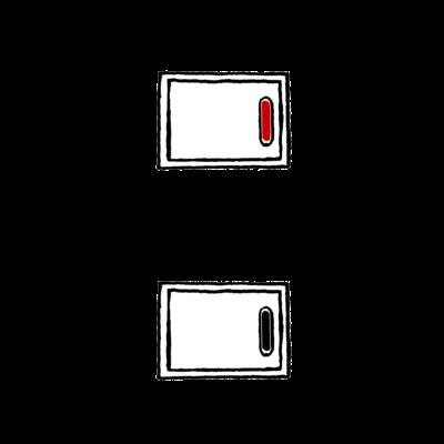 スイッチ③赤白