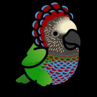 Chubby Bird ヒオウギインコ