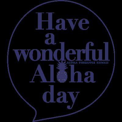 吹き出しロゴ Have a wonderful Aloha day142(NAVY)