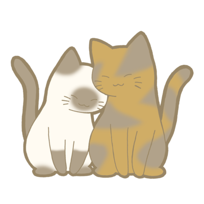 仲良し猫シリーズ 表裏印刷