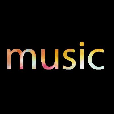 水彩混色moji「music」
