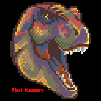 ドット絵-ティラノサウルス