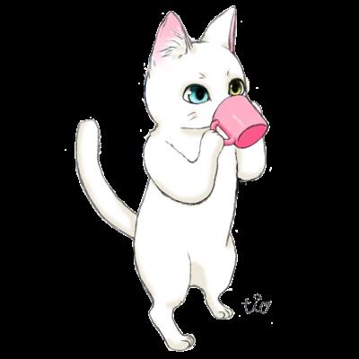 コップ猫ちゃん