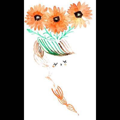 366日の花と女子