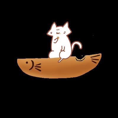 のびネコ缶バッジ