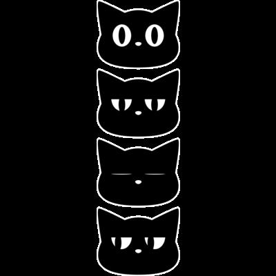 黒猫4匹(縦)