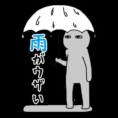 雨がウザい