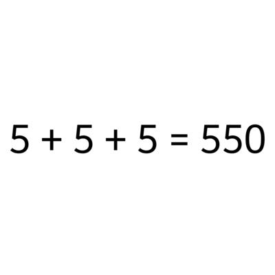 5+5+5=550