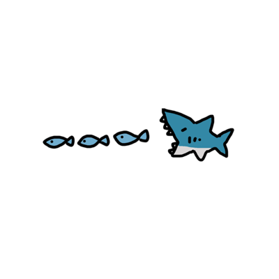サメの食事