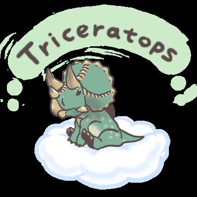 ふわふわトリケラトプス