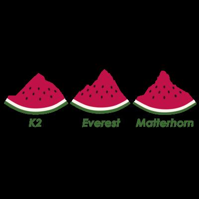スイカの山々(3バージョン)