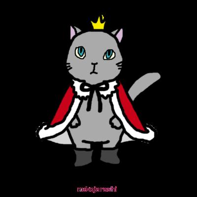 ねこの王様&王子様&お姫さまのTシャツ
