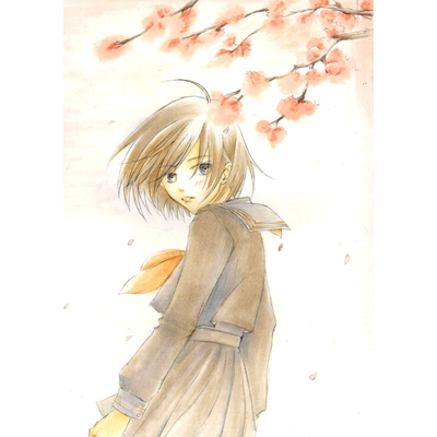 桜舞い散る中で