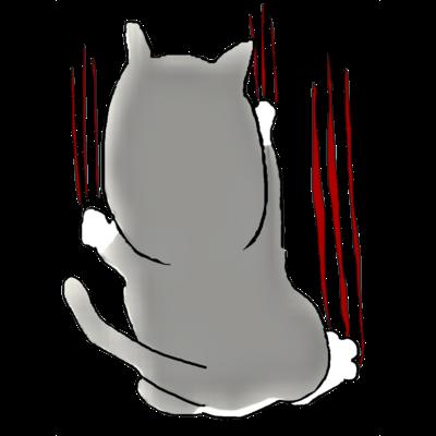 ねこ(爪痕)