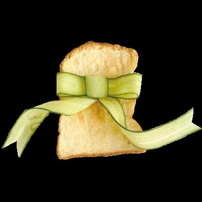 きゅうりリボントースト