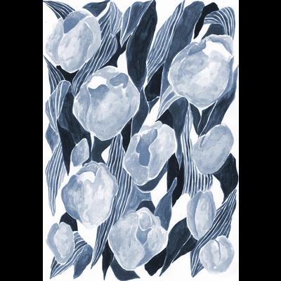 チューリップ_navy blue