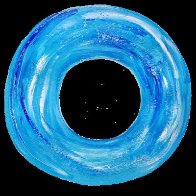 ★青い浮き輪
