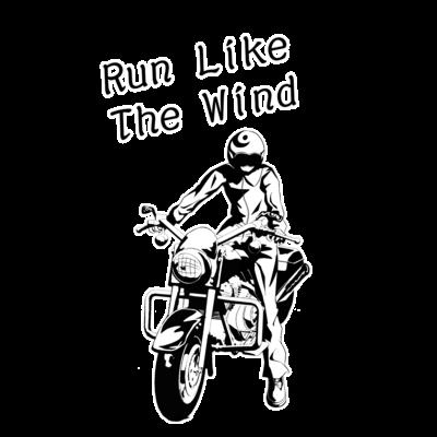 バイク ライダー 1(モノクロ)