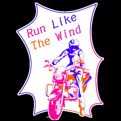 アメコミ風 バイク&ライダー カラフル2