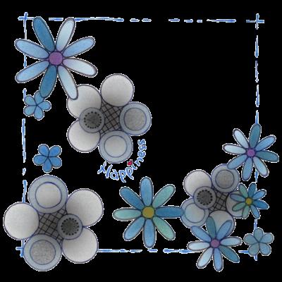 花*モノクロ♪