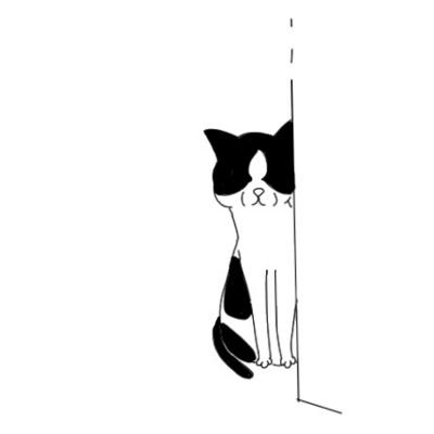 のぞきネコ