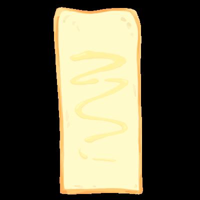 長すぎる食パン(マヨ)