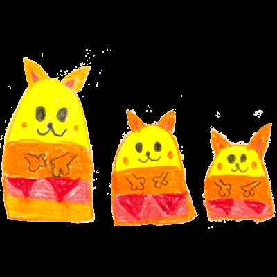 猫のマトリョーシカ