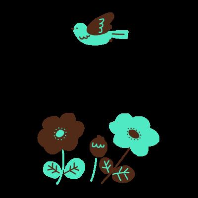 チョコミントカラーのお花
