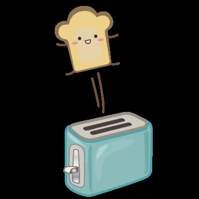 ポップアップトースターと食パンさん