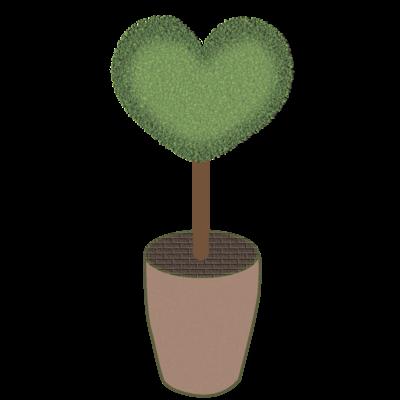 ハート♥グリーンの植木鉢