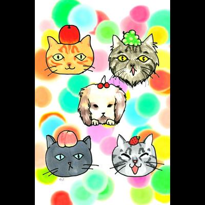 猫ちゃん😺兎ちゃん🐰のフルーツ狩り