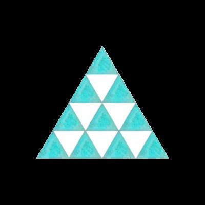 三角△ 緑×白