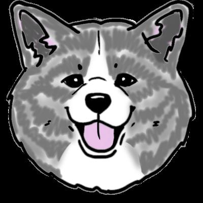 ハッピースマイル秋田犬(赤白虎)