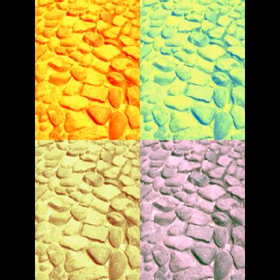 ポップカラー石畳