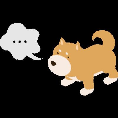 柴犬ナナメ45度「・・・」