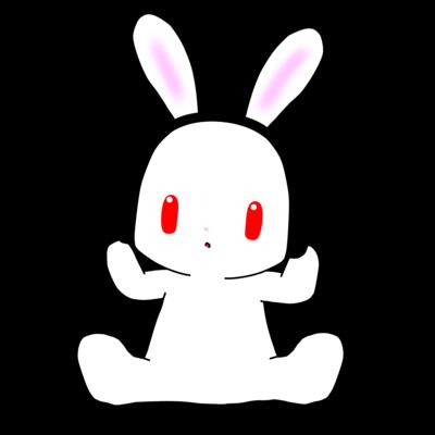 ヘッドフォンのウサギ