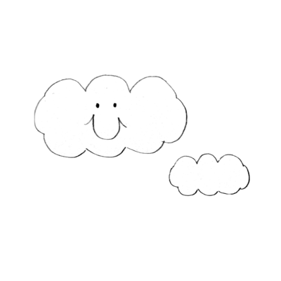 もくもく雲さんとお友達