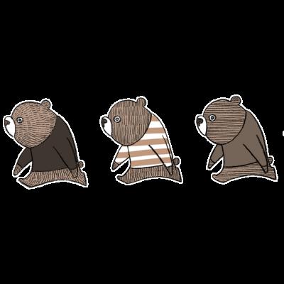 子熊のトリオ