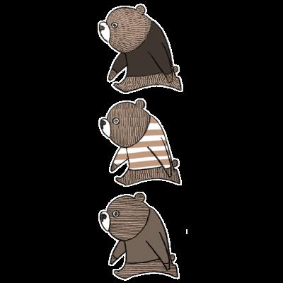 子熊のトリオ(縦)