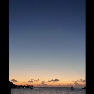 フロリダの夕日 青