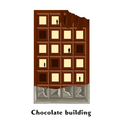 Chocolate building
