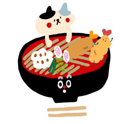 天ぷら蕎麦とねこ